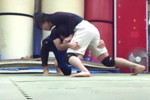 【格闘技を習おう】(見て覚える)タックル潰して⇒マウント
