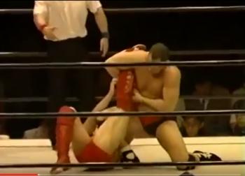 第48戦目  田村潔司vsジョー・マレンコ  Uインター  プロレス  1995年7月13日静岡産業館