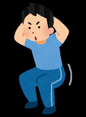 【30年間保証】「膝」屈伸運動【耐久テスト】 ヒンズースクワットの総回数