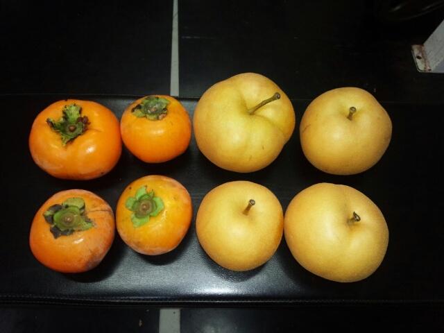 NKHR君「梨・柿」お土産