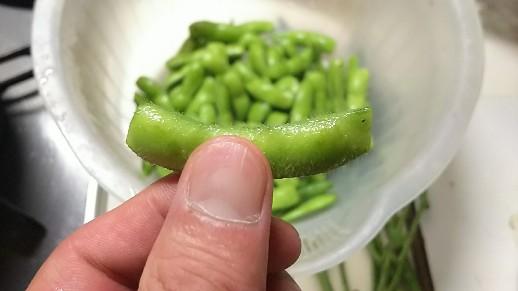 「採れたて枝豆」「茹でて」「いただきます」NKHR